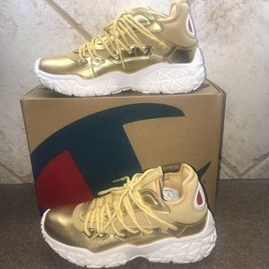 🆕Champion Women's Life Tank Shoes: Gold/White 7.5